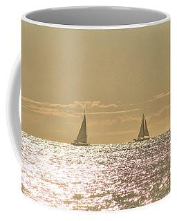 Coffee Mug featuring the photograph Sailing On The Horizon by Robert Banach