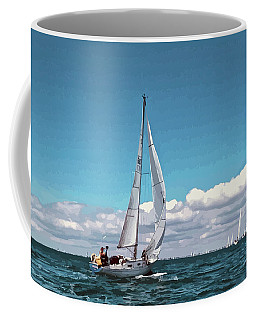 Sailing Regatta On A Brisk Summer's Day Coffee Mug