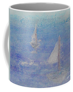 Coffee Mug featuring the painting Sailing Subtly by Kim Nelson
