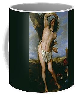 'saint Sebastian', 1656, Spanish School, Oil On Canvas, 171 Cm X 113 Cm... Coffee Mug
