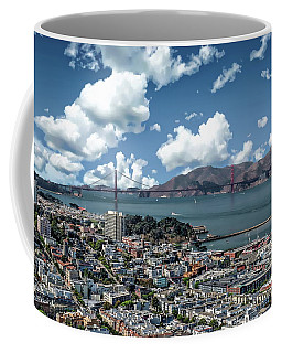Coffee Mug featuring the photograph San Francisco Bay Area by Anthony Dezenzio