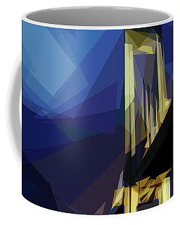 Coffee Mug featuring the digital art San Francisco Bridge by ISAW Company