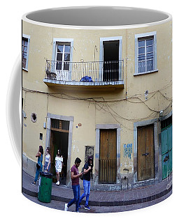 Coffee Mug featuring the photograph Guanajuato Street Scene by Rosanne Licciardi