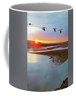 Sandhill Cranes At Scooteney Reservoir Wa Coffee Mug