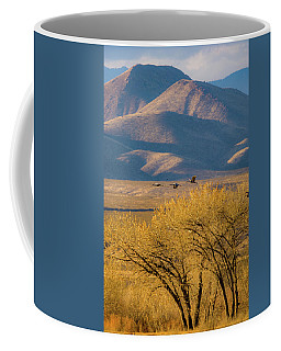 Sandhill Cranes Near The Bosque Coffee Mug