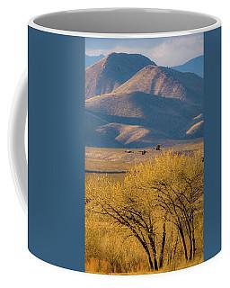 Sandhill Cranes Near The Bosque Coffee Mug