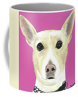 Coffee Mug featuring the painting Sandy's Lulu by Suzy Mandel-Canter