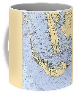Sanibel And Captiva Islands Nautical Chart Coffee Mug