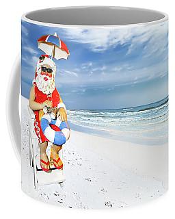 Santa Lifeguard Coffee Mug