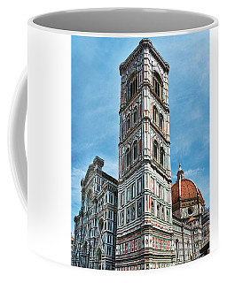 Santa Maria Del Fiore Cathedral Doorway And Bell Tower Coffee Mug