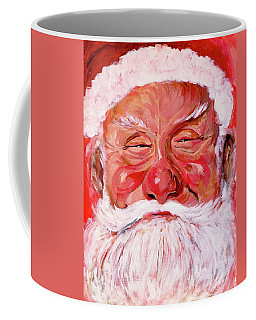 Coffee Mug featuring the painting Santa by Tom Roderick