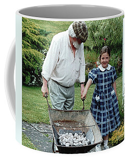 Coffee Mug featuring the painting Santi ? by Val Byrne