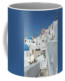 Coffee Mug featuring the photograph Santorini And Up by Kay Brewer