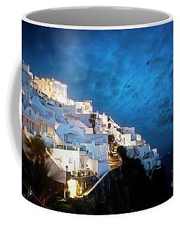 Santorini By Night Coffee Mug