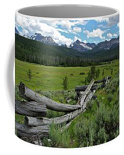 Sawtooth Range And 1975 Pole Fence Coffee Mug