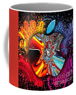 Coffee Mug featuring the digital art Say Some Thing  by A z Mami