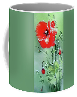 Scarlet Poppy Flower Coffee Mug