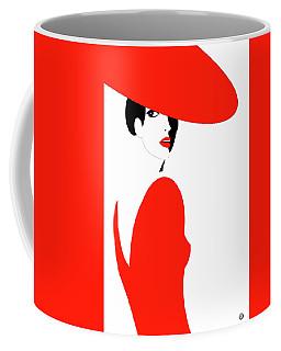 Lady In Red Coffee Mug