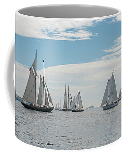 Coffee Mug featuring the photograph Schooners On The Chesapeake Bay by Mark Duehmig