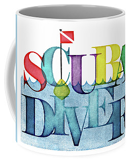 Scuba Diver Colorful Coffee Mug