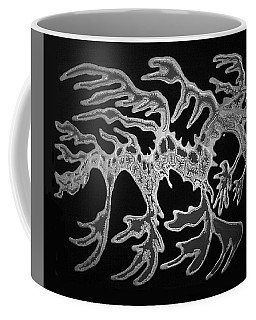 Sea Dragon Black And White Coffee Mug