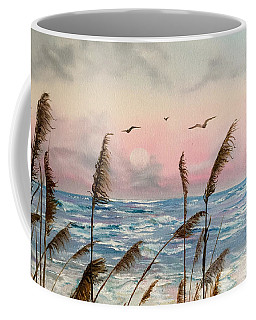 Sea Oats And Seagulls  Coffee Mug