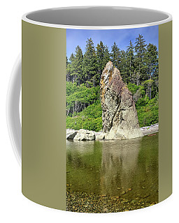 Sea Stack At Ruby Beach  Coffee Mug