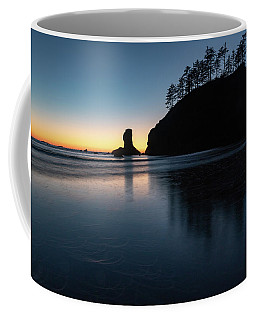 Coffee Mug featuring the photograph Sea Stack Silhouette by Ed Clark