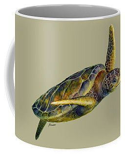 Sea Turtle 2 - Solid Background Coffee Mug