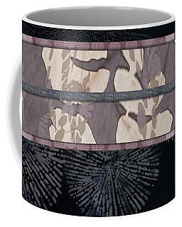 Sea Urchin Contrast Obi Print Coffee Mug