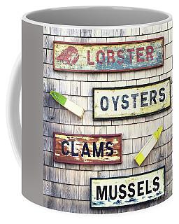 Seafood Signs Coffee Mug