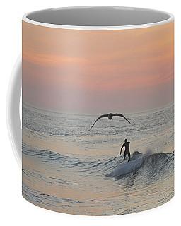 Seagull And A Surfer Coffee Mug