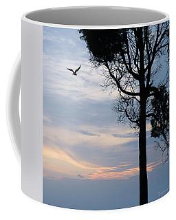Seagull Sunset At Catawba Coffee Mug