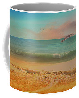 Seagulls Gather At Dusk Coffee Mug