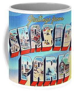 Seaside Park Greetings - Version 2 Coffee Mug