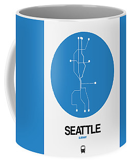 Seattle Blue Subway Map Coffee Mug
