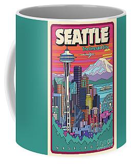 Seattle Poster - Pop Art Skyline Coffee Mug