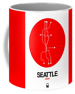 Seattle Red Subway Map Coffee Mug