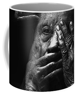 Coffee Mug featuring the digital art See No Evil Hear No Evil Speak No Evil by ISAW Company