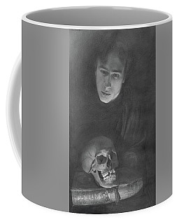 Self-portrait With A Scull Coffee Mug
