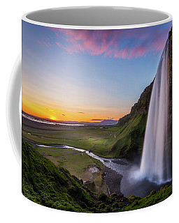 Seljalandsfoss At Sunset Coffee Mug
