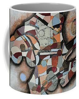 Coffee Mug featuring the painting Semi-solid Ground by Mark Jordan