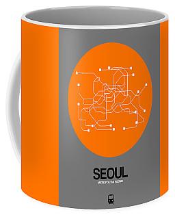 Seoul Orange Subway Map Coffee Mug
