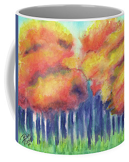 Coffee Mug featuring the painting September 2018 by Betsy Hackett