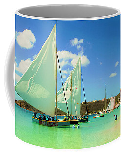 Coffee Mug featuring the photograph Set Your Sails At Sandy Ground In Anguilla by Ola Allen