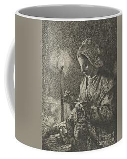 Sewing By Lamplight Coffee Mug