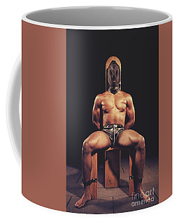 Sexy Man Tiedup On A Bdsm Chair Coffee Mug