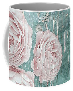 Shabby Chic Roses Distressed Coffee Mug
