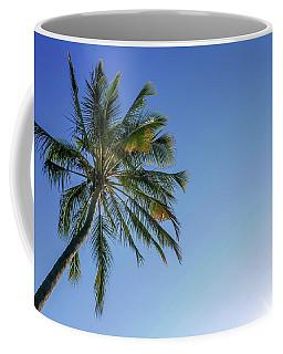 Shades Of Blue And A Palm Tree Coffee Mug