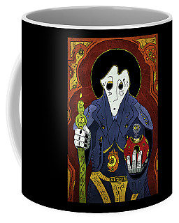 Coffee Mug featuring the painting Shadow Priest by Sotuland Art